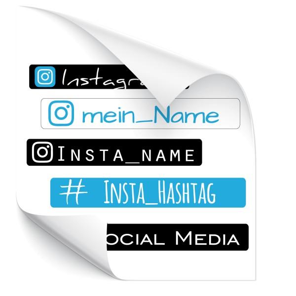 Instagram Namensaufkleber Druck