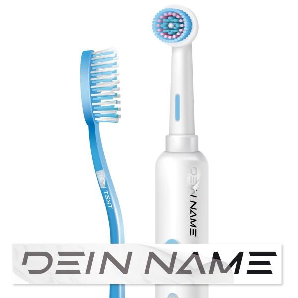 Aufleber mit Namen für Zahnbürsten Zahnbürsten Namensaufkleber - Kategorie Shop