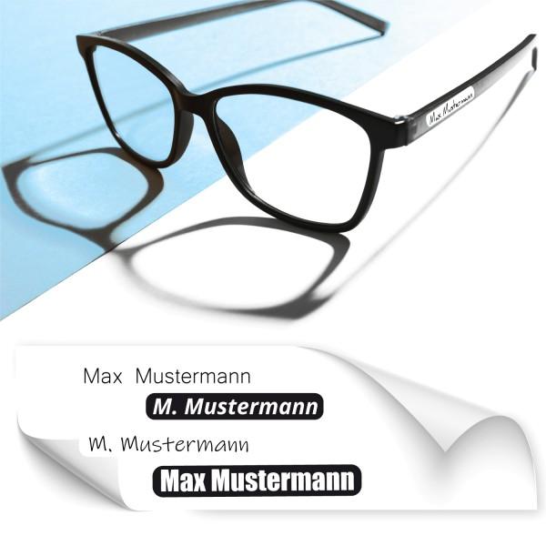 Sticker mit Namen für Brillen Brillennamensaufkleber - Kategorie Shop