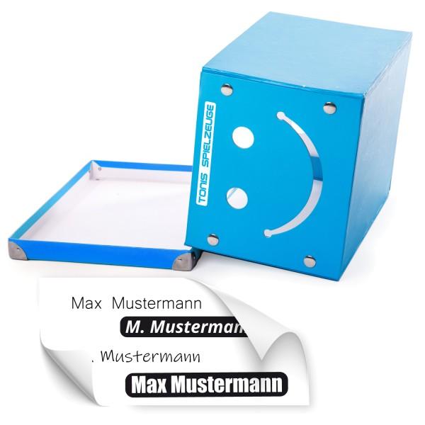 Spielzeug Boxen Beschriftung Namensaufkleber für Spielzeug Boxen - Kategorie Shop
