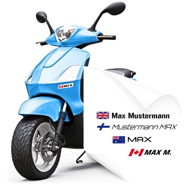 Namens Aufkleber für Motorroller Motorroller Namensaufkleber - Kategorie Shop
