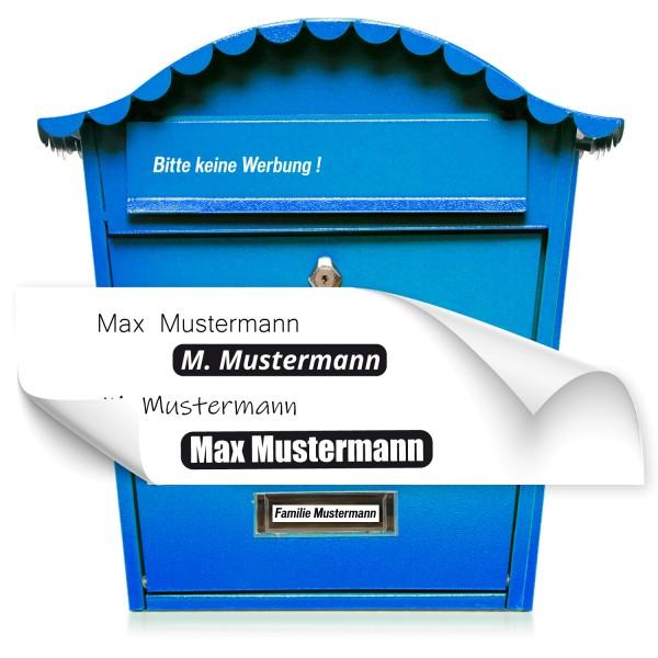 Beschiftung Namen für Briefkasten Namensaufkleber für Briefkasten - Kategorie Shop