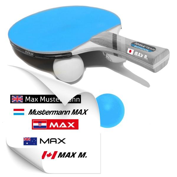 Namenssticker für Tischtennis Schläger Namensaufkleber für Tischtennis Schläger - Kategorie Shop