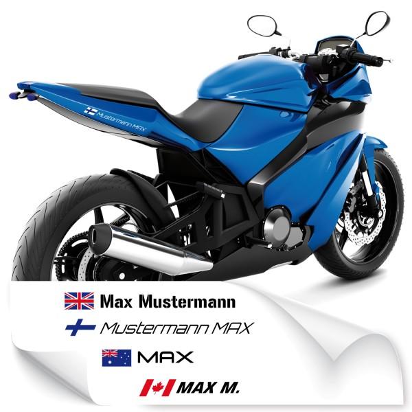 Motorrad Namensaufkleber Namensaufkleber Motorrad - Kategorie Shop