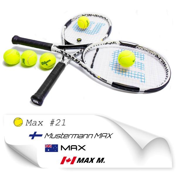 Namen Sticker für Tennis Schläger Tennisch Schläger Namensaufkleber - Kategorie Shop