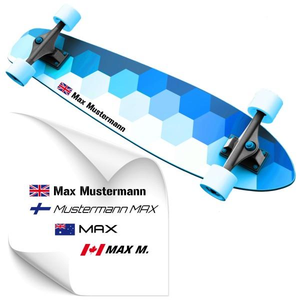 Namenssticker für Skateboard Aufkleber Namenssticker für Skateboards - Kategorie Shop