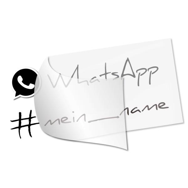 WhatsApp Namensaufkleber - Kategorie Shop
