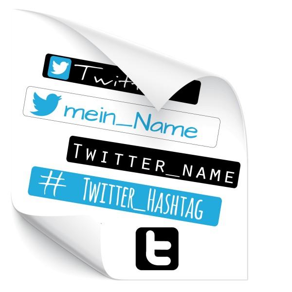 Social Media Twitter Aufkleber