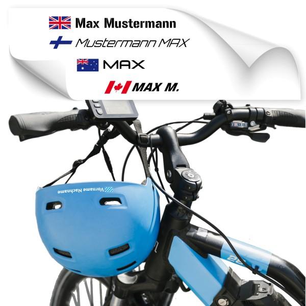 Namensaufkleber für Helme Namensaufkleber für Helme - Kategorie Shop