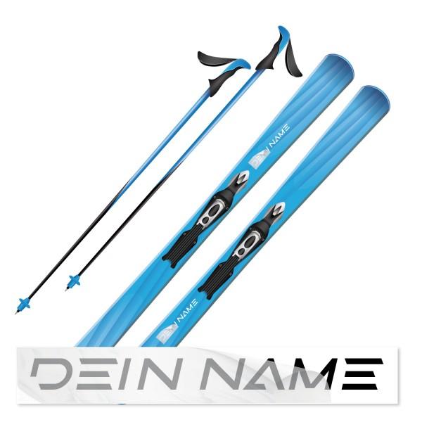 Namensaufkleber für Ski Skiaufkleber - Kategorie Shop